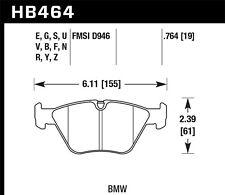 Disc Brake Pad Set-Base Front Hawk Perf HB464F.764