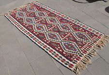 Turkish Kilim Rug 37''x77'&# 039; Hand Woven Van Kilim 95x198cm