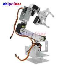 6DOF Mechanical Robotic Arm Clamp Claw Mount Aluminium Robot Kit Set For Arduino