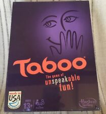 NEW Taboo Party Game of Unspeakable Fun SEALED 13 And Up