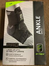 NEW Ptex Pro Lace up Ankle Brace Thermal Compression Large (Men's 10.5-12)