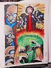 GREEN LANTERN GALLERY PG 11 SPLASH COLORGUIDE PRODUCTION ART-SIGNED BY JOE ROSAS