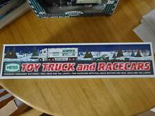 NIB HESS TRUCK & 2 RACE CARS 2003 DIE CAST TOY! LIGHTS & PULL-BACK MOTORS!!
