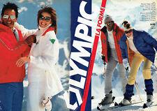 Publicité Advertising 107  1983  Olympic (2) vetements de ski anorak Nilsic blou