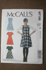McCall's Sewing Pattern Misses  Dresses Size 6-8-10-12-14