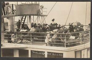 Postcard Stirling Castle paddle steamer Southampton to Bournemouth 1913 ship RP