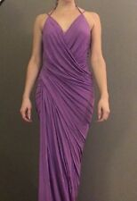 085ca4a92b DONNA KARAN fuscia pink viscose wrapped draped bodycon evening gown dress XS