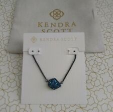 Kendra Scott Tess Druzy Necklace Navy Gunmetal - Retails