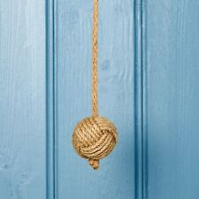 Contemporary Nautical Rope Knot Bathroom Light Pull With Natural Jute Rope Cord
