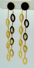 Chic& simply style Light weight gold plated Long Dangle post Fashion Earrings #6