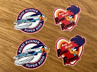 ROAD RUNNER SUPER BIRD BEEP BEEP 4 Stück Aufkleber Sticker V8 Decal Tuning Se022