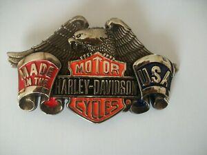 HARLEY DAVIDSON MOTORCYCLES VINTAGE SOLID BRASS  BELT BUCKLE. 1991 BARON.