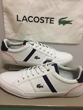 NEW Lacoste Men's Chaymon 318 White/navy fashion Sneakers size 13