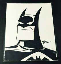 BRUCE TIMM ORIGINAL BATMAN ART SKETCH SIGNED w/ COA RARE ANIMATED SERIES NOT CGC