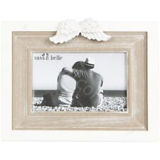Sass & Belle Standing Photo Picture Frame W/ Angel Wings Home Decor Gift