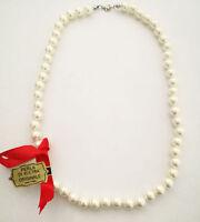 Collana Donna Perle Di Kultra Da 6mm x 50cm Originale Montata In Argento 925°