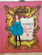 The World Of Barbie Doll Case 1968 Mattel No. 1002 Includes 1 Barbie and Clothes