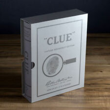 Clue Vintage Bookshelf Edition Collectible Linen Book Board Game New