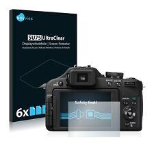 6x Panasonic Lumix DMC-FZ150 Displayschutzfolie Klar Transparent Schutzfolie