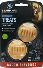 (3 Pack) StarMark Everlasting Dog Treat Toy Bacon Edible Dental Chew Small