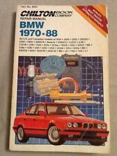 Chiton Repair Manual, Bmw 1970-88, Pb, 1989, Us and Canadian Models, Automotive