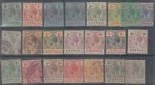 GRENADA MINT USED SELECTION OF 21 STAMPS CAT £ 110