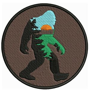 Bigfoot Sunset Embroidered Patch Iron/Sew-On Applique X-Files Cryptid Mystery