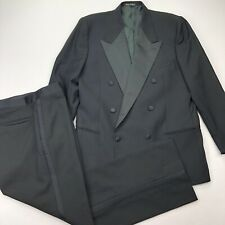 Giorgio Armani Black Satin Lapel Tuxedo Dinner Suit • 40 R • 32 x 30