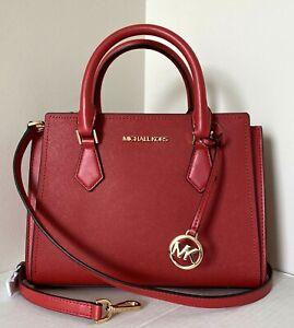 New Michael Kors Hope medium Messenger handbag Leather Flame