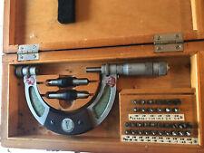 Suhl Screw Thread Pitch Micrometer 50 75mm Gewindemikrometer Anviltip Full Set