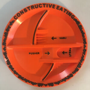 Constructive Eating Construction Zone Divided Child Plate No Utensils