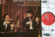 Spohr wienawski commercio Leclair Violin DUOS Perlman Zukerman LP EMI SQ QUADRO NM