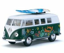 """Kinsmart 1:32 1962 Volkswagen Classical Bus With Surfboard And Decals """"Green"""""""