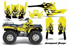 AMR Racing ATV Graphic Kit Polaris Sportsman 500 Decal Sticker 95-04 DFLAME BLK