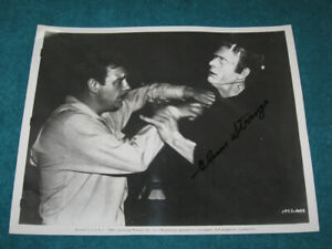 Universal HOUSE OF DRACULA Movie Still Frankenstein SIGNED Glenn Strange