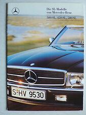 Prospekt Mercedes R 107 - 300 SL, 420 SL, 500 SL, 8.1987, 34 Seiten