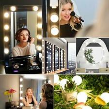 For Makeup LED Lights Vanity Dimmable Mirror Lamp Kit 10Bulbs Hollywood Style