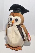 Ty Original Beanie Baby WISE Owl Graduate Class of 1998 - SMOKE-FREE