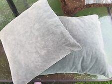 """Home Decorative Gray Suede Throw Cushion Sofa Pillow 16 X 16 """" Lot Of 2 Exc!"""