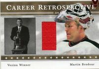 MARTIN BRODEUR 2003-04 IN THE GAME CAREER RETROSPECTIVE GAME-USED JERSEY CARD