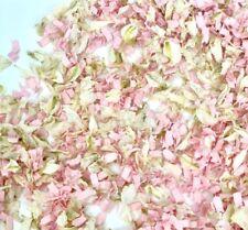 Biodegradable Wedding White Delphinium Dried Petals + Pink Funfetti Confetti