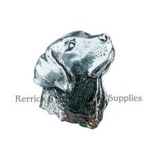ONE PEWTER BADGE FOR WALKING STICK MAKING LABRADOR HEAD LARGE
