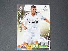 KARIM BENZEMA REAL MADRID UEFA PANINI FOOTBALL CARD CHAMPIONS LEAGUE 2011 2012