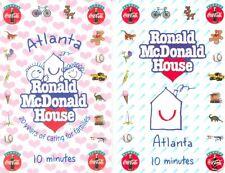 Coca-Cola & Ronald McDonald House in Atlanta phonecard set of 2