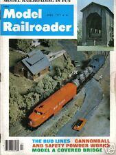 VINTAGE MODEL RAILROADER MAGAZINE TRAINS APRIL 1977