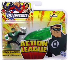 DC UNIVERSE ACTION LEAGUE Collection_GREEN LANTERN figure + Cannon Construct_MIP