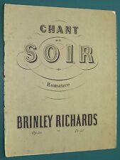 """Partition piano  """"Chant du soir"""" Op. 50 Brinley RICHARDS"""