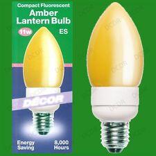 1x 11W Ambra Grande Candela CFL a risparmio energetico Decorazione Lanterna
