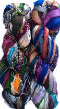 500 Grams Himalaya Recycled Soft Sari RiIBBON Silk Yarn Knit Crochet Woven