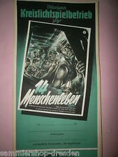 14 Menschenleben DDR Filmplakat 1955 60x28 cm gerollt East german movie poster
